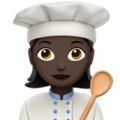 Woman Cook: Dark Skin Tone on Apple iOS 11.1