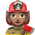 Woman Firefighter: Medium Skin Tone on Apple iOS 11.1