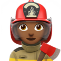 Woman Firefighter: Medium-Dark Skin Tone on Apple iOS 11.1