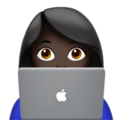 Woman Technologist: Dark Skin Tone on Apple iOS 11.1