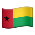 Guinea-Bissau on Apple iOS 11.1