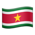 Suriname on Apple iOS 11.1