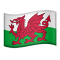 Flag for Wales (GB-WLS) on Apple iOS 11.1