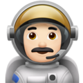 Man Astronaut: Light Skin Tone on Apple iOS 11.1