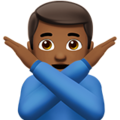 Man Gesturing No: Medium-Dark Skin Tone on Apple iOS 11.1