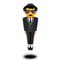 Man in Business Suit Levitating on Apple iOS 11.1