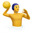 Man Playing Water Polo on Apple iOS 11.1