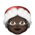 Mrs. Claus: Dark Skin Tone on Apple iOS 11.1