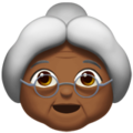 Old Woman: Medium-Dark Skin Tone on Apple iOS 11.1