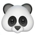 Panda Face on Apple iOS 11.1