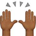 Raising Hands: Medium-Dark Skin Tone on Apple iOS 11.1