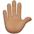 Raised Hand: Medium Skin Tone on Apple iOS 11.1