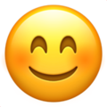 Smiling Face With Smiling Eyes on Apple iOS 11.1