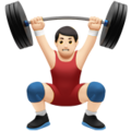 Person Lifting Weights: Light Skin Tone on Apple iOS 11.1