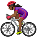 Woman Biking: Medium-Dark Skin Tone on Apple iOS 11.1