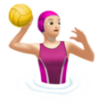 Woman Playing Water Polo: Light Skin Tone on Apple iOS 11.1