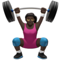Woman Lifting Weights: Dark Skin Tone on Apple iOS 11.1