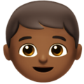 Boy: Medium-Dark Skin Tone on Apple iOS 11.2