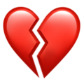 Image result for broken heart emoji