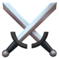 Crossed Swords on Apple iOS 11.2