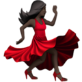 Woman Dancing: Dark Skin Tone on Apple iOS 11.2