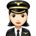 Woman Pilot: Light Skin Tone on Apple iOS 11.2