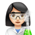 Woman Scientist: Light Skin Tone on Apple iOS 11.2