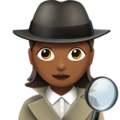 Woman Detective: Medium-Dark Skin Tone on Apple iOS 11.2
