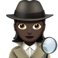 Woman Detective: Dark Skin Tone on Apple iOS 11.2