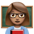 Woman Teacher: Medium Skin Tone on Apple iOS 11.2