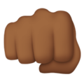 Oncoming Fist: Medium-Dark Skin Tone on Apple iOS 11.2