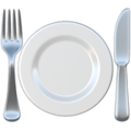 Fork and Knife With Plate on Apple iOS 11.2