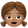 Girl: Medium Skin Tone on Apple iOS 11.2