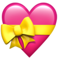 Heart With Ribbon on Apple iOS 11.2