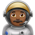 Man Astronaut: Medium-Dark Skin Tone on Apple iOS 11.2