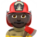Man Firefighter: Dark Skin Tone on Apple iOS 11.2