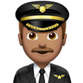 Man Pilot: Medium Skin Tone on Apple iOS 11.2