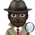 Man Detective: Dark Skin Tone on Apple iOS 11.2