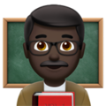 Man Teacher: Dark Skin Tone on Apple iOS 11.2