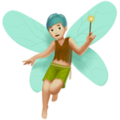 Man Fairy: Medium-Light Skin Tone on Apple iOS 11.2