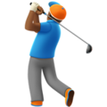 Man Golfing: Medium-Dark Skin Tone on Apple iOS 11.2