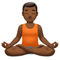 Man in Lotus Position: Medium-Dark Skin Tone on Apple iOS 11.2