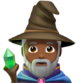 Man Mage: Medium-Dark Skin Tone on Apple iOS 11.2