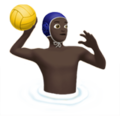 Man Playing Water Polo: Dark Skin Tone on Apple iOS 11.2