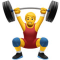 Man Lifting Weights on Apple iOS 11.2