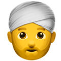 Person Wearing Turban on Apple iOS 11.2