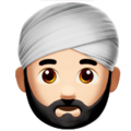 Person Wearing Turban: Light Skin Tone on Apple iOS 11.2