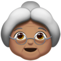 Old Woman: Medium Skin Tone on Apple iOS 11.2