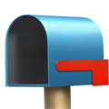 Open Mailbox With Lowered Flag on Apple iOS 11.2