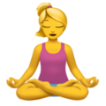 Person in Lotus Position on Apple iOS 11.2